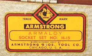 [Decal for Armstrong H-15 Socket Set]
