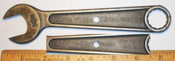 [Auto-Kit No. 100 Vanadium 3/4x7/8 Open-Box Wrench]