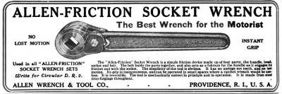 [1914 Advertisement for Allen Friction Wrench]