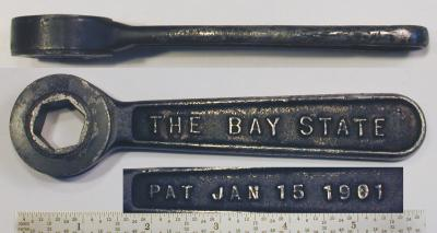 [Bay State 5/8 Hex Ratcheting Box Wrench]