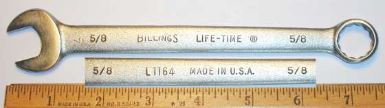 [Billings Life-Time L1164 5/8 Combination Wrench]