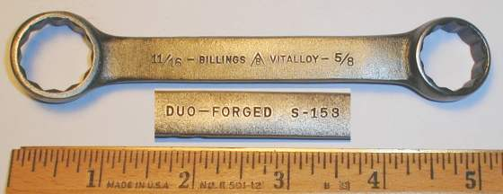 [Billings Vitalloy S-153 Duo-Forged Box-End Wrench]