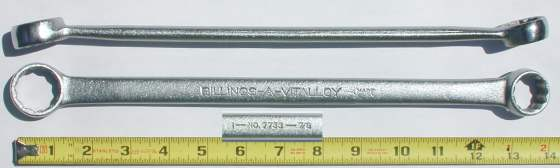[Billings Vitalloy 7733 7/8x1 Box-End Wrench]