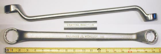 [Billings Vitalloy 8039 1-1/4x1-7/16 Offset Box-End Wrench]