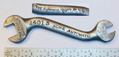 [Billings Acme 1401S 3/16x1/2 Short S-Shaped Wrench]