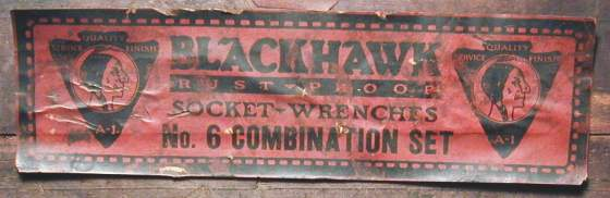 [Label from Blackhawk No. 6 Combination Set]