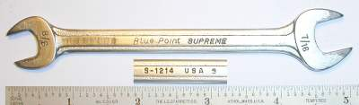 [Blue-Point Supreme S-1214 3/8x7/16 Open-End Wrench]