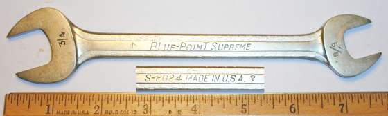 [Blue-Point Supreme S-2024 5/8x3/4 Open-End Wrench]