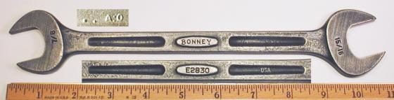 [Bonney E2830 7/8x15/16 Open-End Wrench in Streamlined Style]