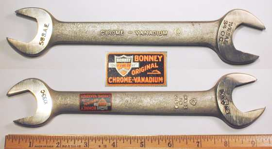[Early Bonney 1033-C CV 15/16x1 Open-End Wrench]