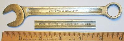 [ChromeXQuality 9/16 Combination Wrench]