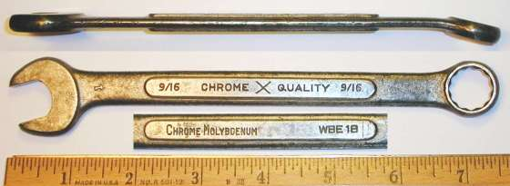 [ChromeXQuality WBE18 9/16 Combination Wrench]