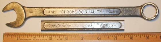 [ChromeXQuality WBE24 3/4 Combination Wrench]
