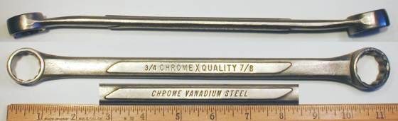 [ChromeXQuality 3/4x7/8 Box-End Wrench]