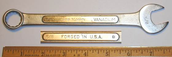 [Craftsman Vanadium CI 5/8 Combination Wrench]