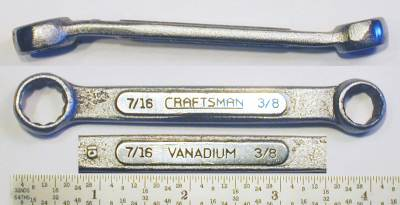 [Craftsman Vanadium CI 3/8x7/16 Short Box Wrench]