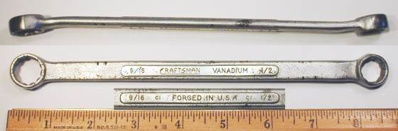 [Craftsman Vanadium CI Long Angled 1/2x9/16 Box-End Wrench]