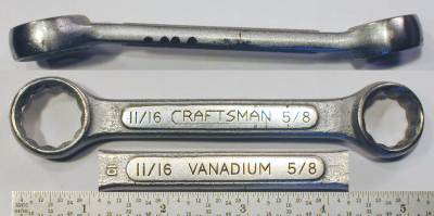 [Craftsman Vanadium CI 5/8x11/16 Short Box Wrench]