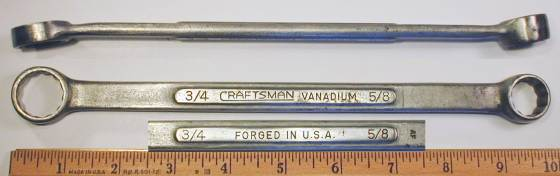 [Craftsman Vanadium AF 5/8x3/4 Box-End Wrench]
