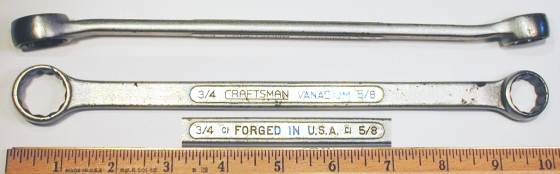 [Craftsman Vanadium CI 5/8x3/4 Box-End Wrench]