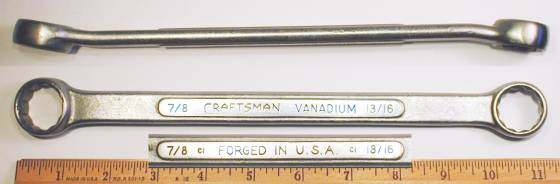 [Craftsman Vanadium CI 13/16x7/8 Box-End Wrench]