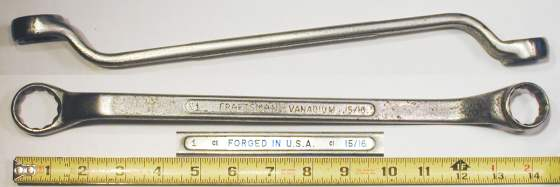 [Craftsman Vanadium CI 15/16x1 Offset Box-End Wrench]