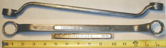 [Craftsman Vanadium 15/16x1 Offset Box-End Wrench]