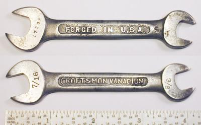 [Craftsman Vanadium 1723 AF 3/8x7/16 Open-End Wrench]