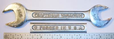 [Craftsman Vanadium 1725B CI 1/2x9/16 Open-End Wrench]