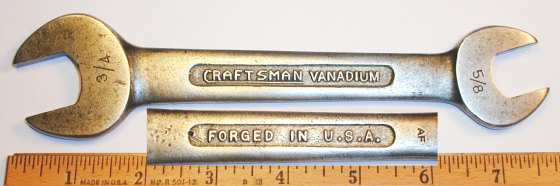 [Craftsman Vanadium 1729 AF 5/8x3/4 Open-End Wrench]
