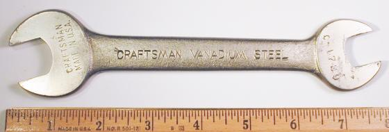 [Craftsman Vanadium Steel C-1729 5/8x3/4 Open-End Wrench]
