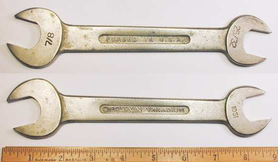 [Craftsman Vanadium 1031 25/32x7/8 Open-End Wrench]