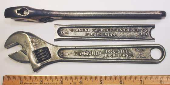 [Diamond Tool Steel 8 Inch Adjustable Wrench]