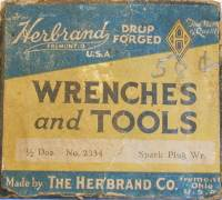 [Label from Box of Herbrand 2334 Wrenches]