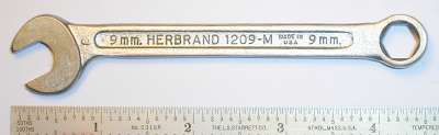 [Herbrand 1209-M 9mm Multitype Combination Wrench]
