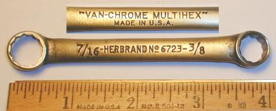 [Herbrand 6723 3/8x7/16 Short Multihex Box-End Wrench]