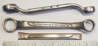 [Herbrand 4925 1/2x9/16 Offset Box-End Wrench]