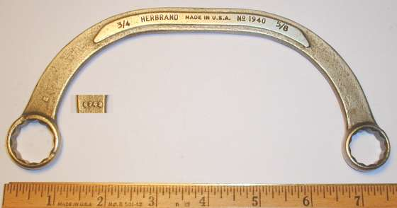 [Herbrand No. 1940 5/8x3/4 Half-Moon Wrench]