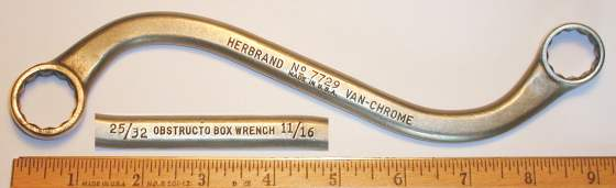 [Herbrand 7729 11/16x25/32 S-Shaped Box Wrench]