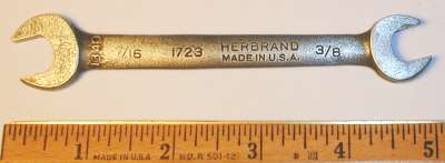 [Herbrand 1723 3/8x7/16 Open-End Wrench]