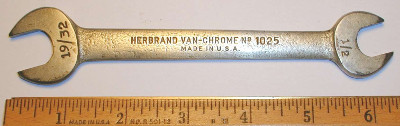 [Herbrand 1025 1/2x19/32 Open-End Wrench]