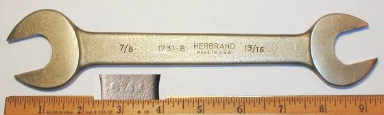 [Herbrand 1731B 13/16x7/8 Open-End Wrench]
