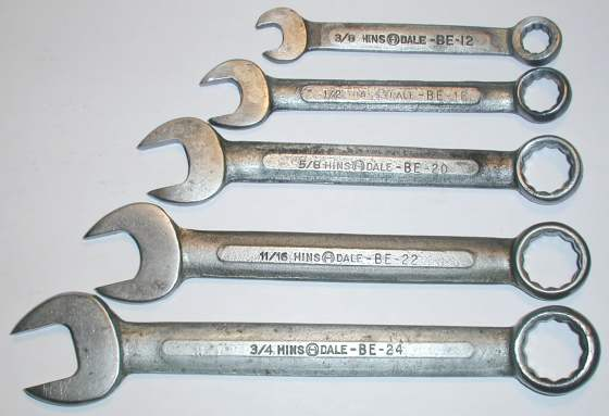 [Hinsdale Combination Wrenches BE-12 to BE-24]