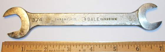 [Hinsdale Chrome Vanadium 5/8x3/4 Open-End Wrench]