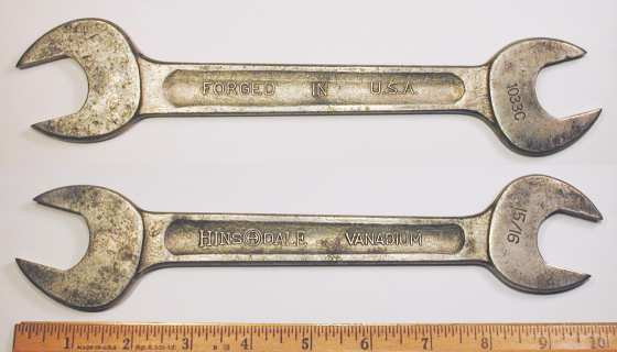 [Hinsdale Vanadium 1033C 15/16x1 Open-End Wrench]