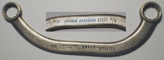 [Indestro Super-Quality 769 9/16x5/8 Half-Moon Wrench]
