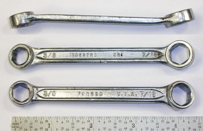 [Indestro No. 921 3/8x7/16 Short Angled Box Wrench]