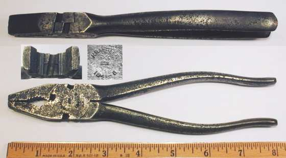 [Later Kraeuter 1841-8 8 Inch Button's Pattern Pliers]