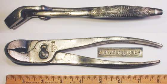 [Kraeuter 1923-8 8 Inch Bent-Nose Combination Pliers]