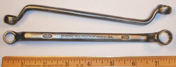 [Mystery Chrome Molybdenum 3/8x7/16 Offset Box Wrench]
